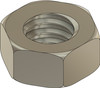 """Machined Hex Nut Standard Thread M1.4 (1.40UNM) 2.25mm / .089"""" ACF (Across the Flats) Nickel Silver, Finish Color Dark Silver. Resistant to Tarnish. Made on precision screw machines. Price is for 100 count package"""