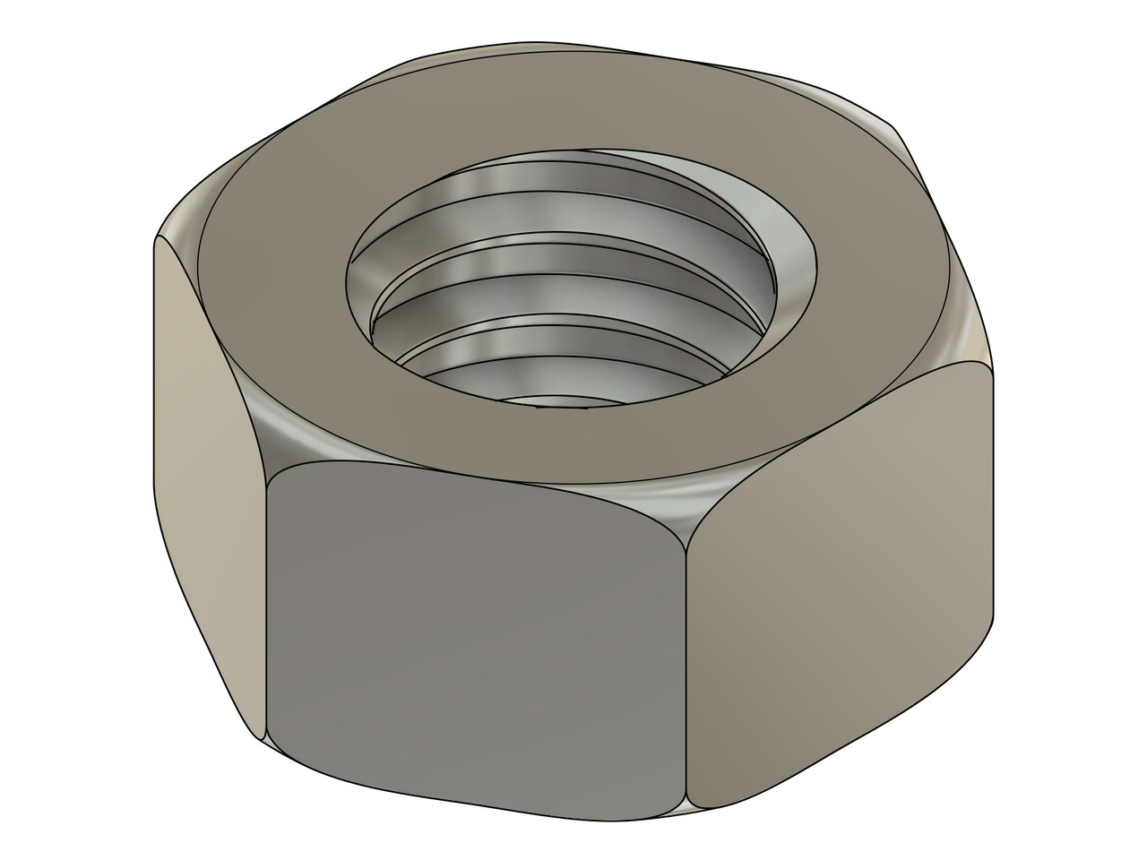 """Machined Hex Nut Thread Metric Standard M1.4 (1.40 UNM) Pitch .30mm ACF (across the flats) 2.25mm / .089"""" Material Stainless Steel, Part Finish Color """"Silver"""" Price is for 100 count package"""
