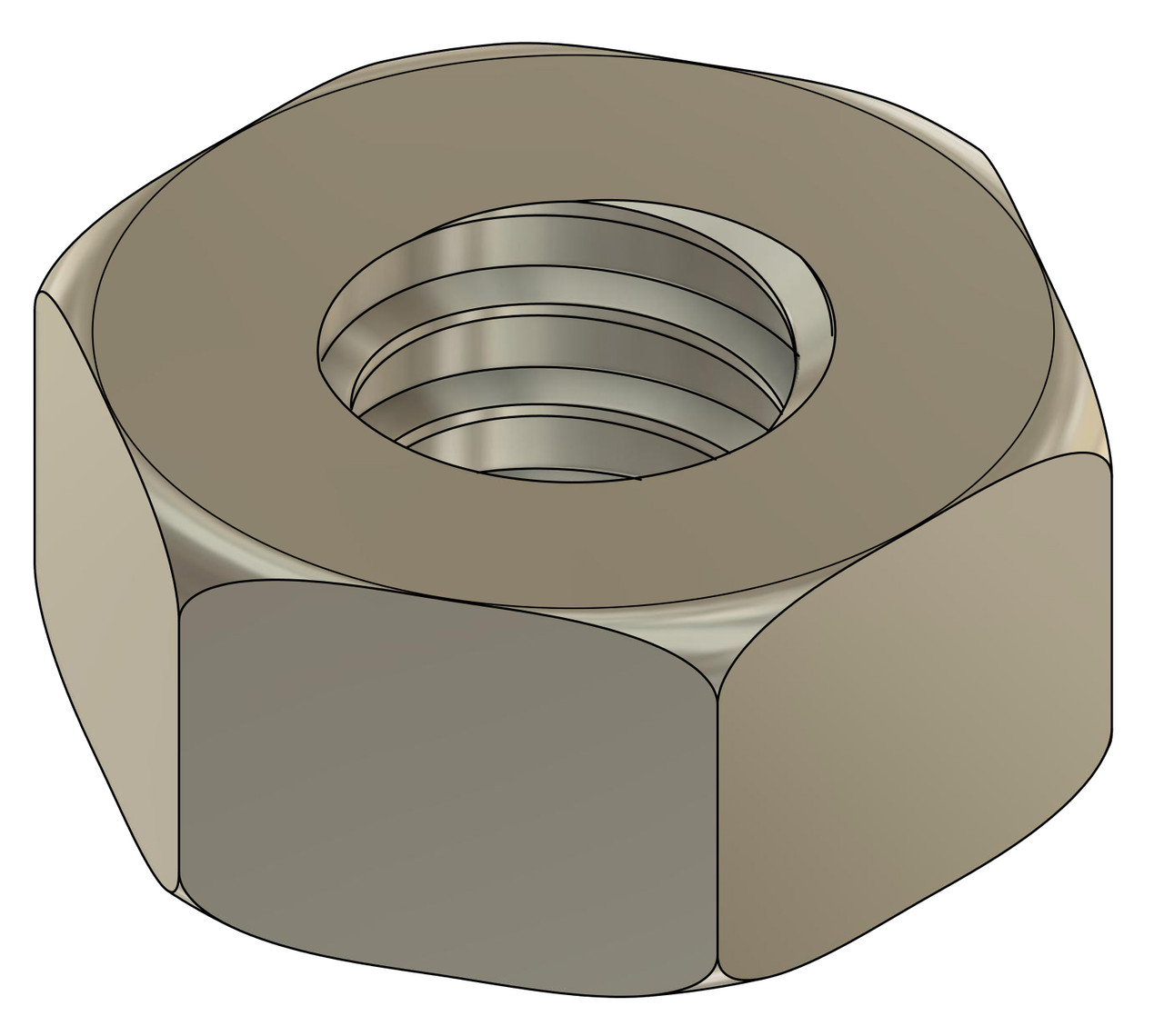 """Machined Hex Nut  Oversized 00-90 (.050"""" / 1.27mm) Thread ACF (across the flats) 2.2mm / .089"""" Material: Nickel Silver, a copper alloy resistant to tarnish often used in jewelry and eyewear. Part Color Finish is Silver Price is for 100 count package"""
