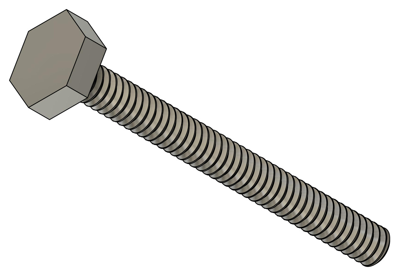 """Machine Screw Hex Head Thread M1.2 (1.20UNM) Pitch .25mm Head (ACF) Measurement 2.5mm Threaded Shank Length 11.7mm Overall Length 12.5mm Material Stainless Steel Finish Color Natural Stainless Steel """"Silver"""" and Polished The screw head has a slight doom and is polished. Price is for 100 count package"""