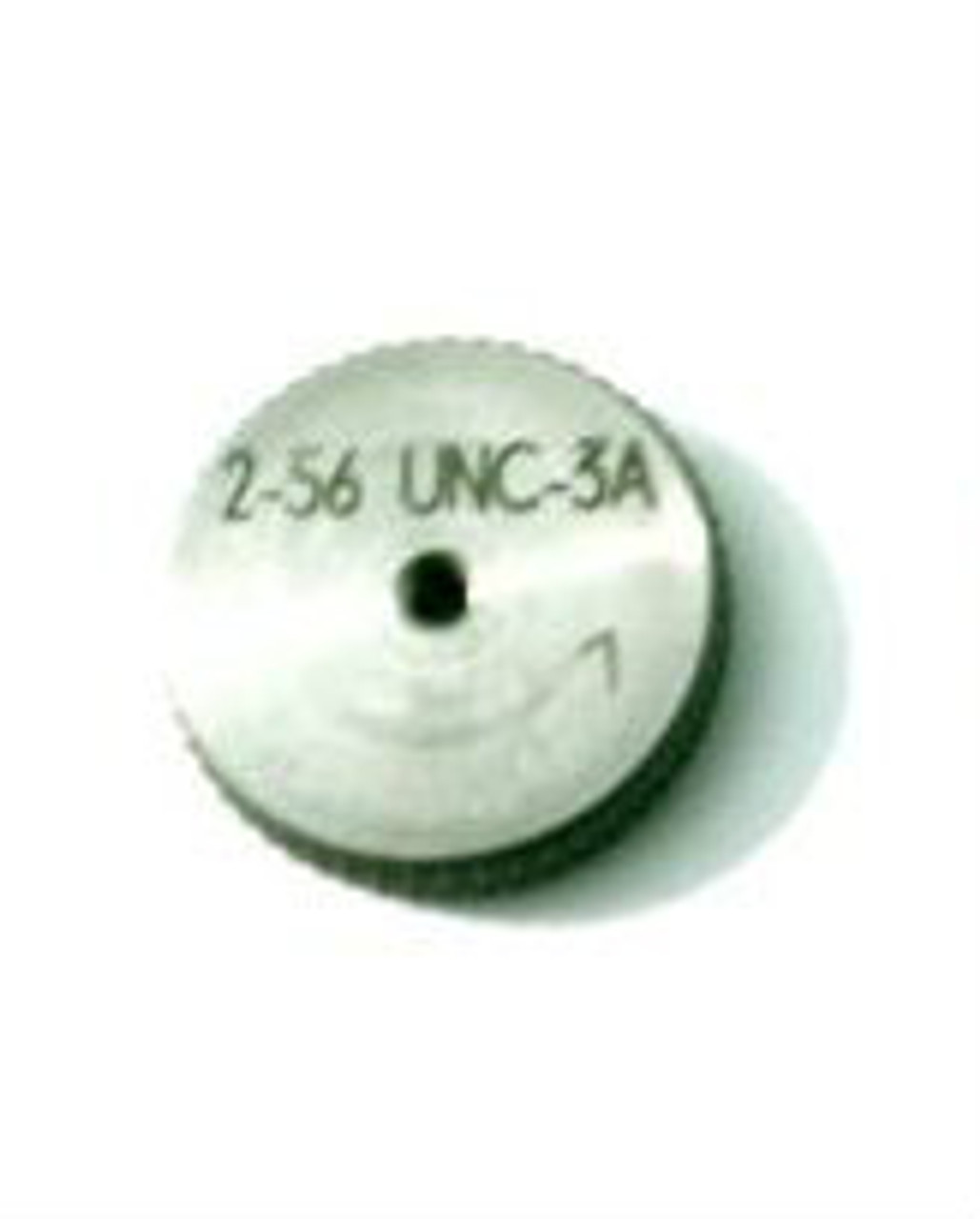 """Thread Ring Gage 2-56 class UNC-3A; """"Go"""" member Precision Thread Gage made of High Speed Steel then hardened. Picture is representative of part,  Brand ESO made for us in Switzerland."""