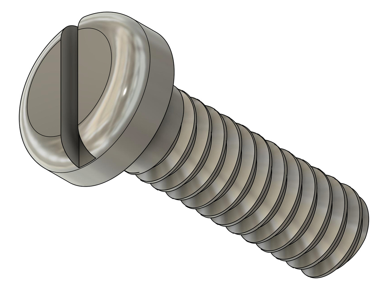"Precision Machine Screw Pan Head, Thread 0-80 2A x 3/16"" length, Head diameter .102"" (2.60mm), Material Stainless Steel #303, price for 100 pieces, finish color silver.  This screw was made on precision screw machines in Switzerland, burr free and instrument quality.  This screw was not cold headed."