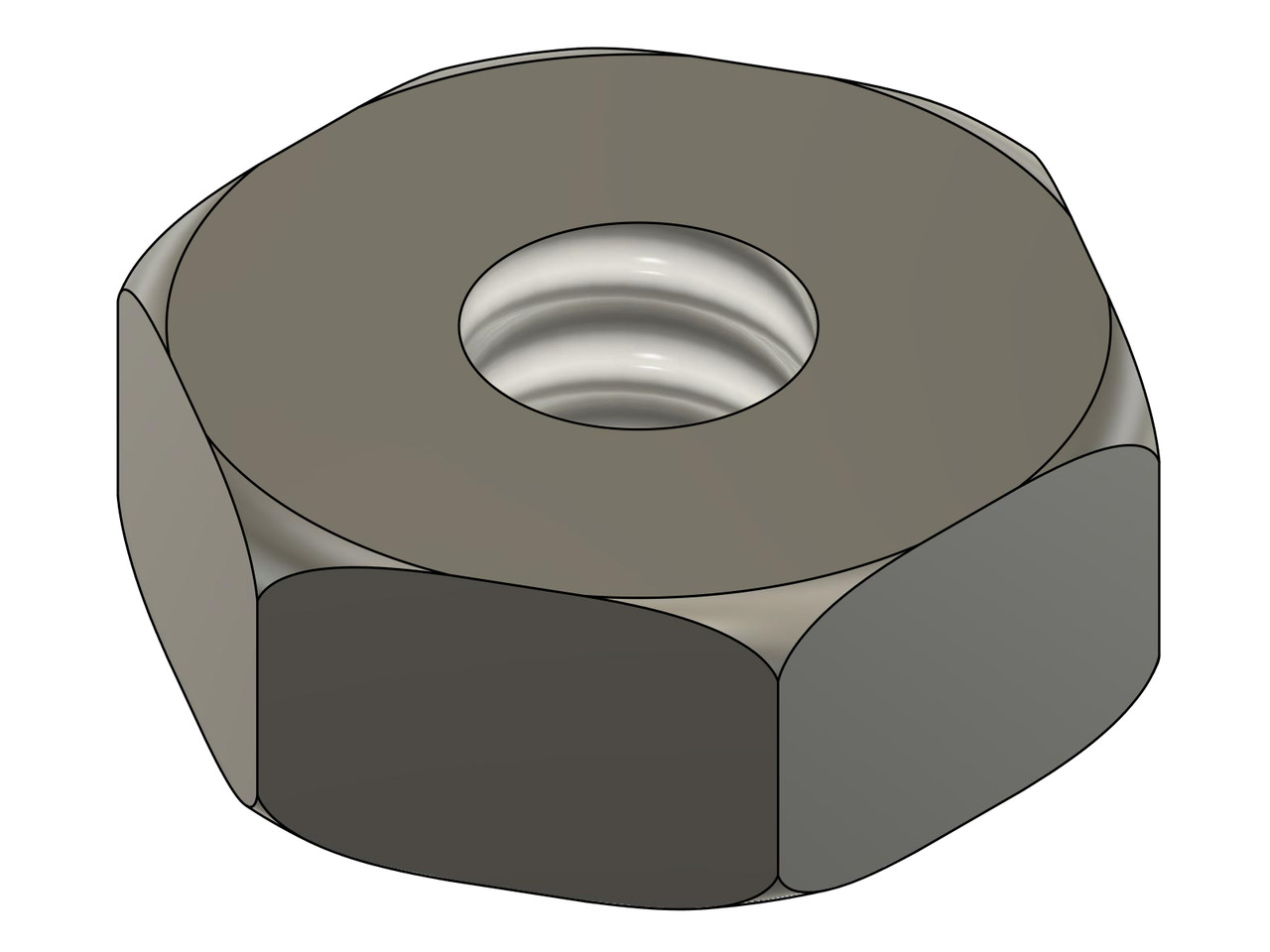 """Machine Hex Nut  Thread M1.0 (1.00UNM,) 2.0mm / .079"""" ACF (Across the Flats)  Stainless Steel #303, Silver Finish.   Hex Wrench for this item is #29237   Made on precision screw machines.     Price is for 100 count package with bulk pricing available.    Please contact sales@minitaps.com for bulk pricing pricing or any additional questions or information."""