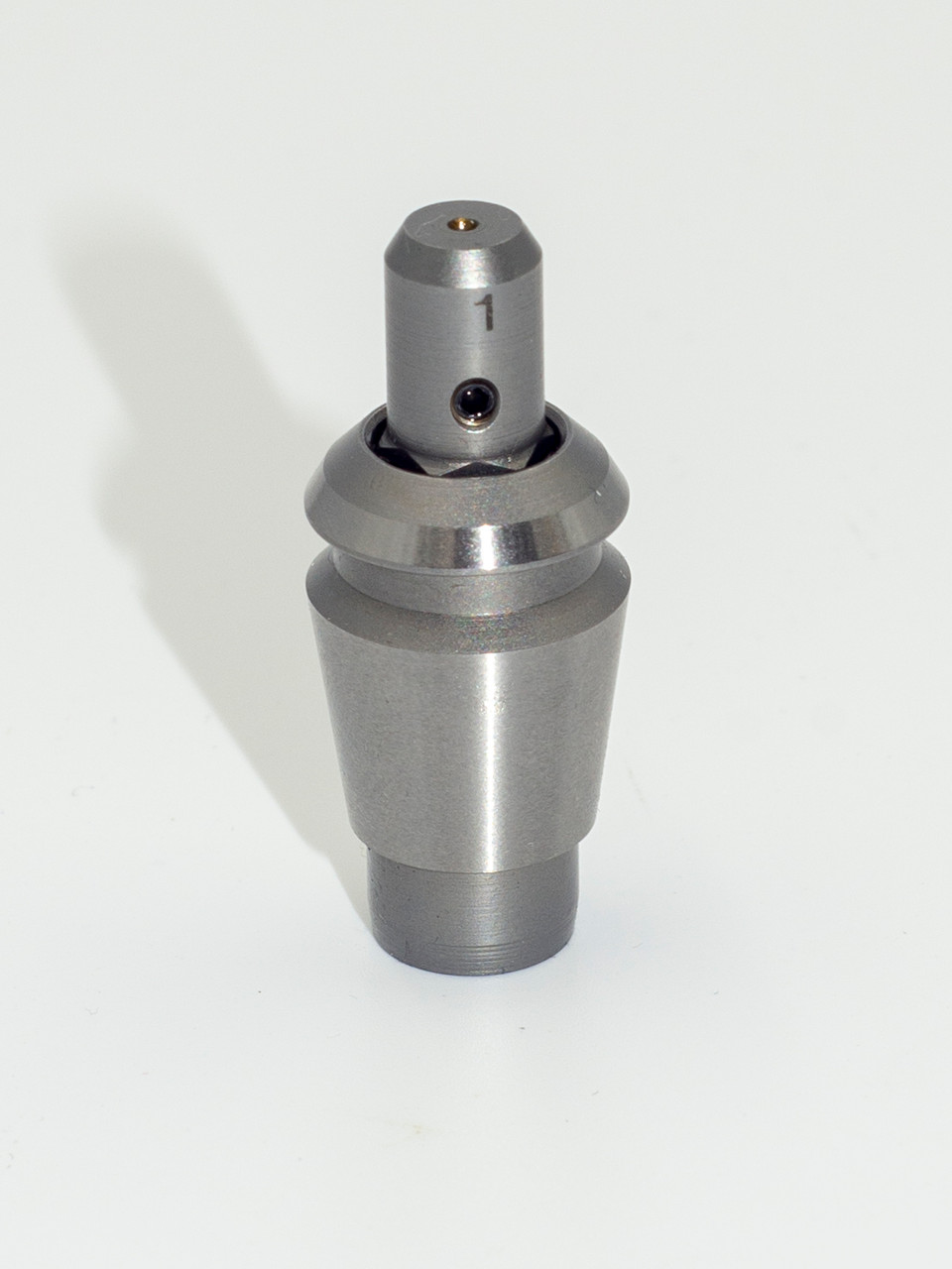 This Tapping  collet is for Taps with a 1.00m shank diameter.  Tapping collets, fit ER-16 collet holders,  Select the collet that fits the shank of your tap.  These spring loaded collets fits shank sizes 1.0mm, 1.5mm and 2.0mm.