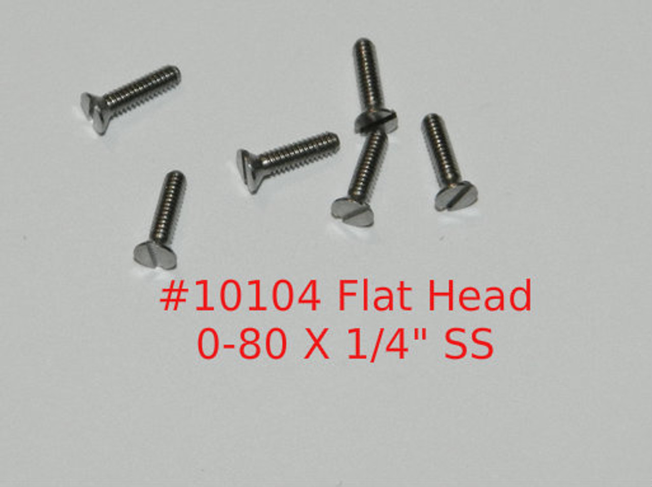 """0-80 2A Thread Flat Head, 82 Degree,  Precision Slotted Machine Screw, Length 1/4"""" Full Thread, Stainless Steel #303, Price is for 100 Pieces. Polished Instrument Grade."""