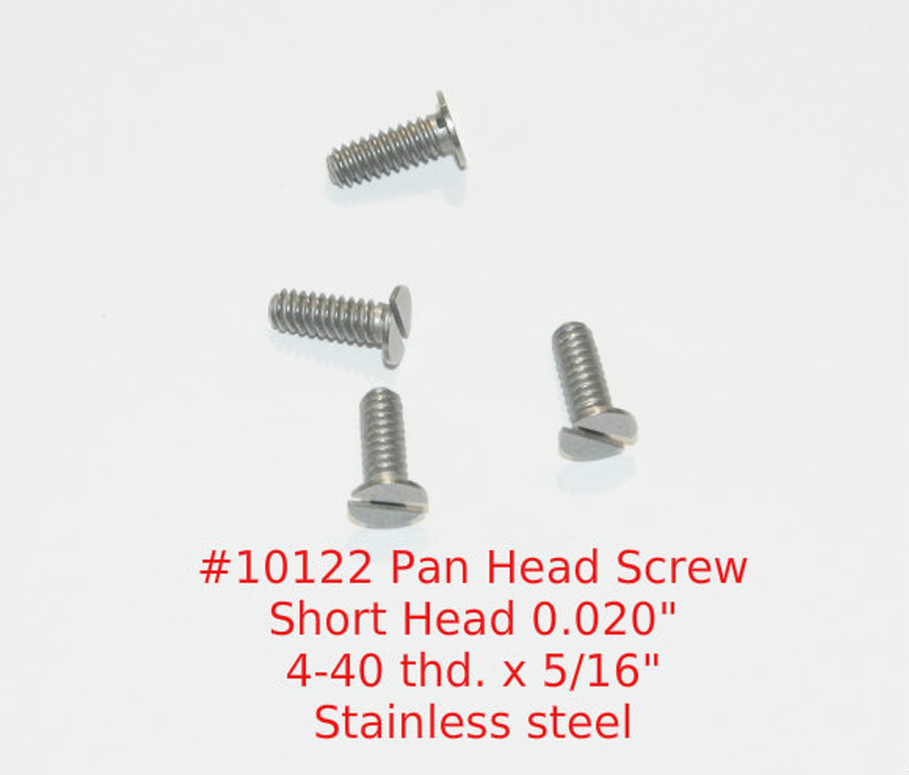 """4-40 2A Pan Head (Short 0.020"""") Slotted Machine Screw, Length 5/16"""" Full Thread, Stainless Steel #303  Price is for 100 pieces.  All parts are certified and traceable."""
