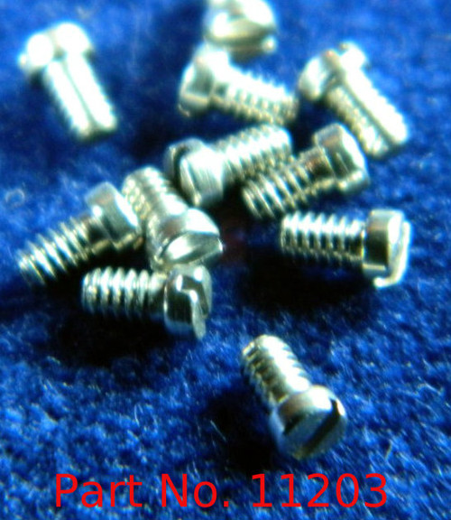 "Machine Screw Special, Small Head, Thread M1.4 (1.40UNM) Pitch .30mm Head Diameter 1.9mm Threaded Length (Shank) 2.5mm / 0.100"" Max Overall Length (OAL) 3.0mm Material Stainless Steel, Finish Color ""Silver"" Made on precision screw machines. Price is for 100 count package"