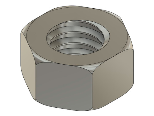 """Machined Hex Nut   Thread Metric Standard M1.4 (1.40 UNM), Pitch .30mm, ACF (across the flats) 2.25mm / .089"""",   Material Stainless Steel, Part Finish Color Silver  Price is for 100 count package with bulk pricing available. Please contact sales@minitaps.com for bulk pricing pricing or any additional questions or information."""