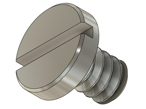 """Pan Head Machine Screw M.9 / 0.90 UNM, Length .050"""", Instrument Grade Part Made of Stainless Steel."""