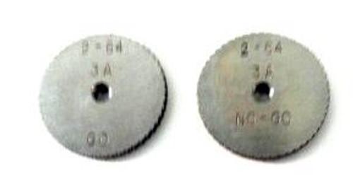 2-64 UNC-3A Thread Ring Gage, HSS Set Go & No-Go DC