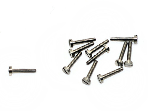 """Machine Screw Pan Head Thread M1.4 (1.40UNM) Threaded Shank Length 8mm (5/16"""") Head Diameter 2.5mm Overall Length (OAL) 9.0mm Material Stainless Steel #303, Finish Color """"Silver"""" Part is a modified NAS-722-140-320 Price is for 100 count package"""