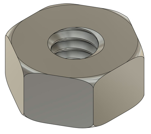 """Machined Hex Nut Thread M1.2 (1.20 UNM) ACF (across the flats) 2.5mm / .098"""" Thickness 1.2mm Material: Stainless Steel #303 Part Color Finish is """"Silver"""" Price is for 100 count package"""