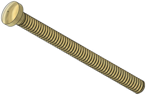 Machine Screw  Domed Head Non-Slotted  Thread M1.2 (1.20UNM,) 13.5mm Threaded Length, 15mm Overall Length, 1.8mm Head  Nickel Silver, Gold Finish   We have Hex Nuts p/n:11422 and Acorn Nuts p/n: 11442 for this thread   Made on precision screw machines.     Price is for 100 count package with bulk pricing available.    Please contact sales@minitaps.com for bulk pricing pricing or any additional questions or information.
