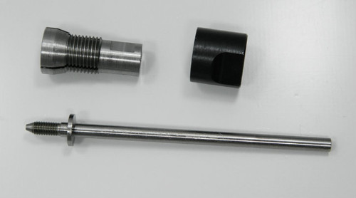 """Holder for Roll Dies with 8.0mm outside housing diameter generally fitting thread sizes M.8 to M1.3 Non-Adjustable, HSS for die Body diameter 8.0mm. Assembly consisting of: Shaft, Body and Closure Cap.  Generally this item is a """"Special Order"""" lead time 2- 4 weeks.  We can supply a die hold for any roll die we sell."""