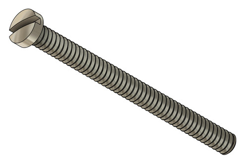 """Machine Screw Thread 00-90 (0.046"""") Head Diameter .075"""" Overall Length (OAL) .591"""" (15.1mm) Threaded Length 9/16"""" Material: Nickel Silver, a premium copper alloy resistant to tarnish often used in jewelry and eyewear. Part Color Finish is Silver"""