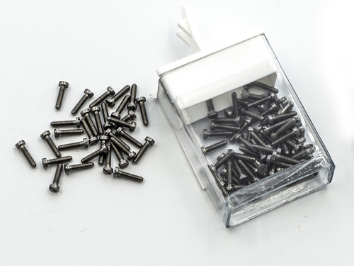 """Machine Screw, Pan Head Thread M1.4 (1.40UNM) Pitch .30mm Overall Length (OAL) 6.9mm Threaded Length (Shank) 6.2mm Head 2.5mm Stainless Steel, Finish Color """"Silver"""" Made on precision screw machines. This part is a modified NAS-722-140-250 Price is for 100 count package"""