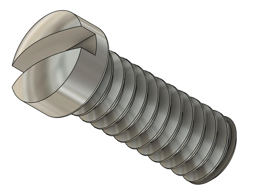 """Machine Screw Pan Head Thread M1.2x.25mm, Head diameter 1.55mm 1/16""""  Overall Length 3.80mm, Threaded Length 3.0mm, Material: Stainless Steel #303, Finish Color Silver Price is for 100 pieces, Bulk Pricing Available"""