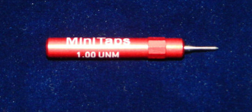 """1.00UNM Plug """"No-Go"""" Gage pitch .25mm; UNM stands for """"United National Miniature"""" the American Metric miniature Thread standard. This gage is one piece handle containing No-Go Precision Thread Gage made of High Speed Steel then hardened. Class of fit 1.00UNM is similar to metric M1.0 6H thread. Picture is representative of part,  Brand is;"""" MiniTaps"""" made specifically for us in Switzerland."""