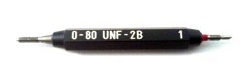 Thread Plug Gage 0-80 class UNF-2B;  Set  Go and No-Go Precision Thread Gage made of High Speed Steel then hardened. Picture is representative of product.