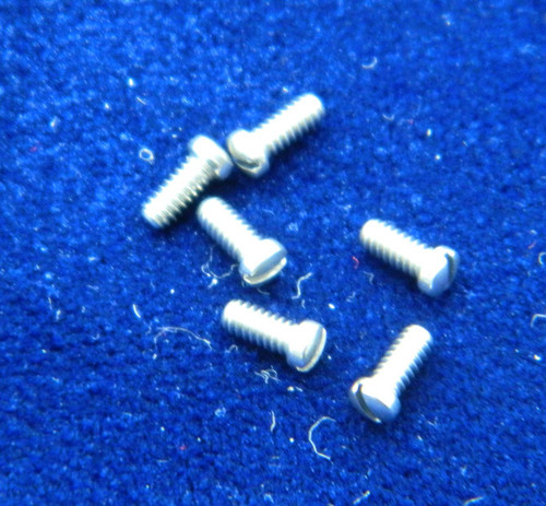 "Machine Screw special, small head, thread M1.4 pitch .30mm (Thread also called  1.40 UNM) head diameter 2.0mm, Length (shank) 3.2mm / 1/8"" max.  The (OAL) Overall length of this screw is  4.0mm material Stainless steel, price for 100 pieces, finish color silver  Screw made on precision screw machines."