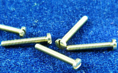 "Machine Screw special, Thread M1.4, pitch .30mm head diameter 2.5mm, Thread length 9.7mm or 3/8"" overall length is 10.5mm material Stainless steel, price for 100 pieces, finish color silver  Note: Thread is at maximum for M1.4 Thread.  This screw was designed for tight fit like class 3 fit instead of standard class 2."