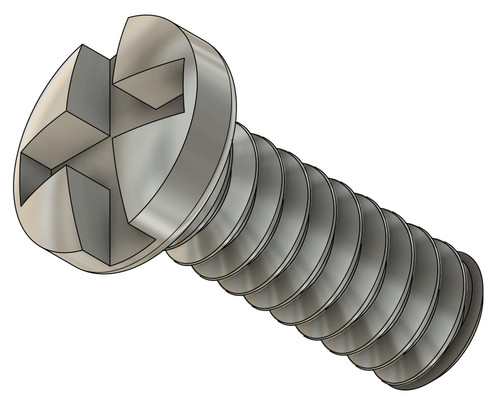 """Machine Screw Pan Head Slotted Phillips (Cross Recessed) Thread 00-90 2A Length Under Head 1/8"""" (3.1mm) Overall Length 3.8mm Head Diameter Maximum 0.078"""" (2.00mm) Stainless Steel Packaged in 100 Count Vials"""