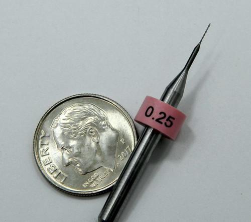 """Drill bit .25mm  .0098"""""""
