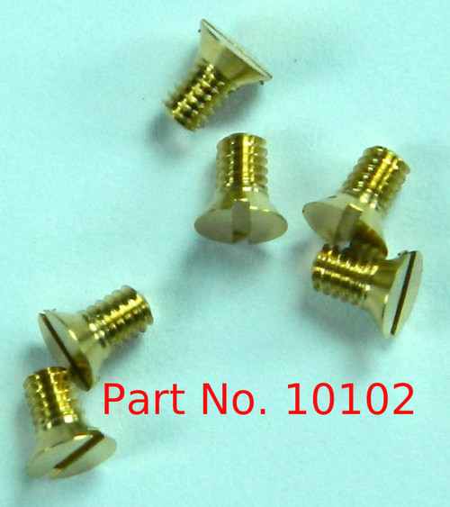 "1-72 Flat Head Slotted Machine Screw, Length 1/8"", Full Thread to Under Head, Brass, Price is for 100 Pieces."