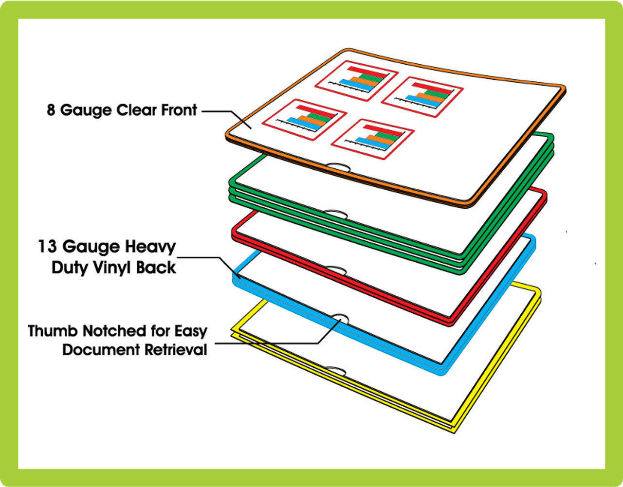 Green Package of 25 - Letter Size Paperwork Organizer // Paperwork Arranger 2 Packages