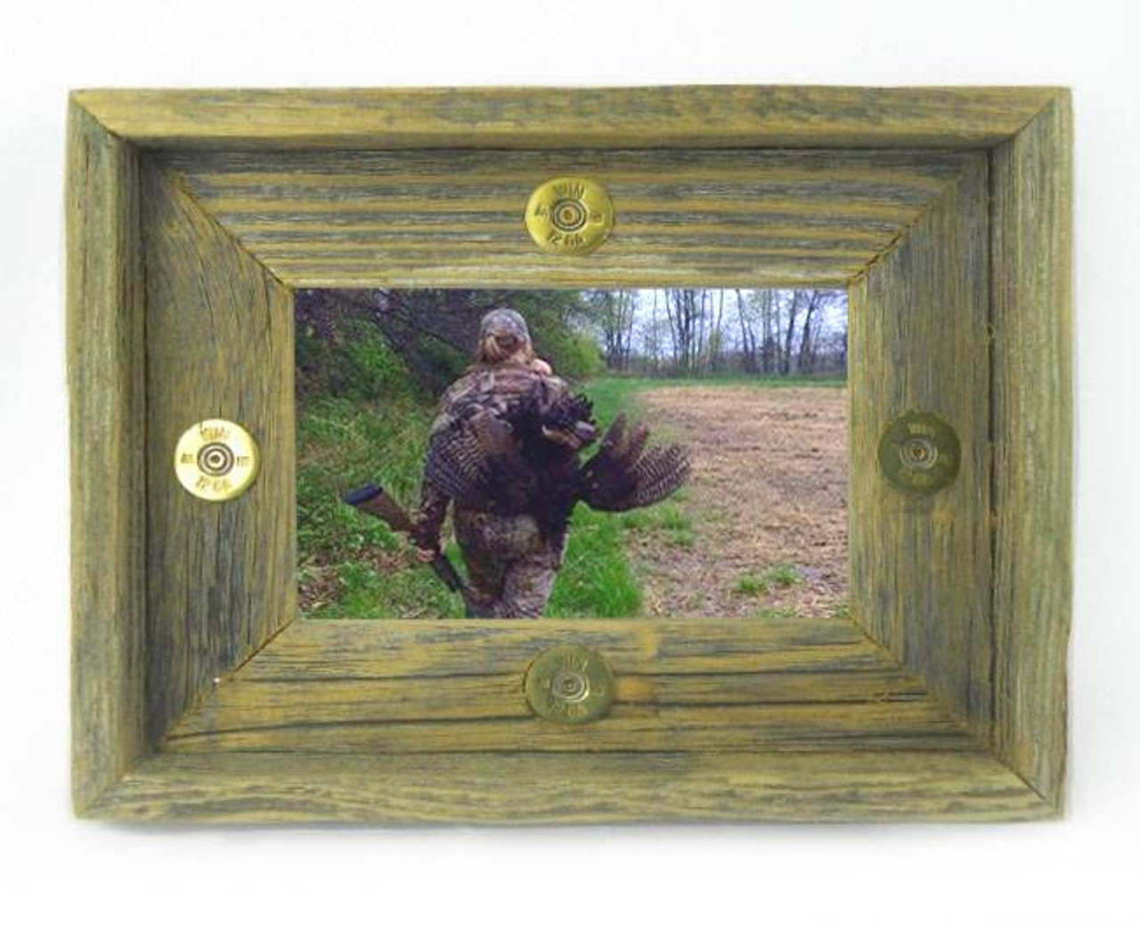 12 Gauge Shells 4x6 Barn Wood Photo Frame