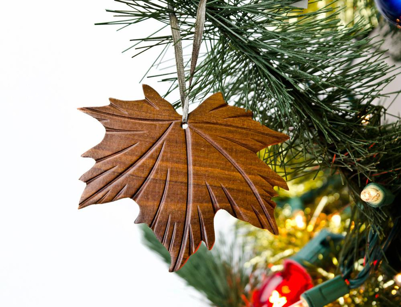 maple leaf wooden ornament maple leaf wooden ornament