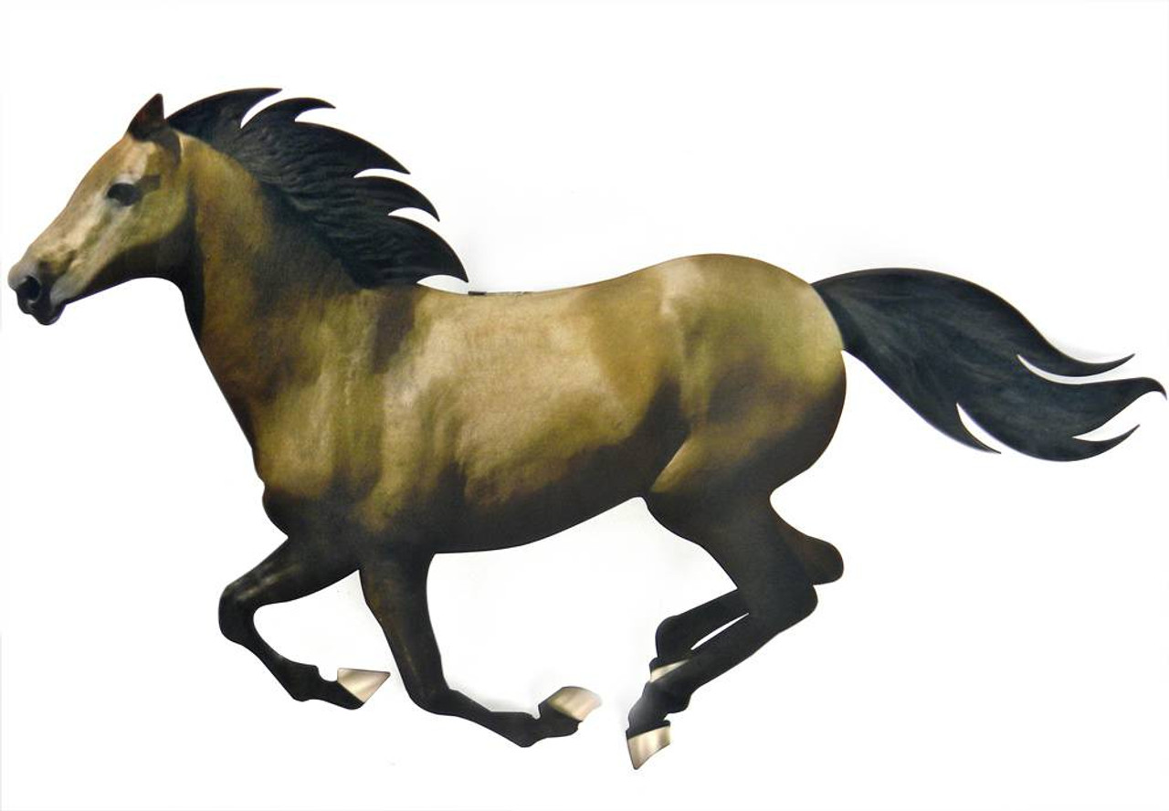 Running Horse 3d Steel Wall Art