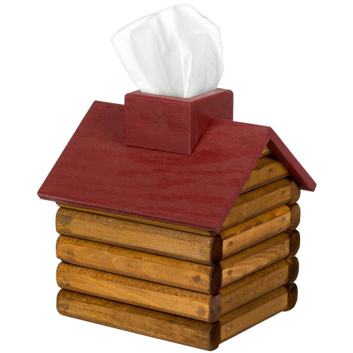 Cabin Tissue Box Green Roof American Expedition