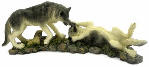 Playful Wolves Sculpture