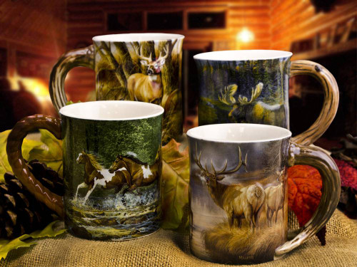 Sculpted Coffee Mug Set Choose 4 American Expedition