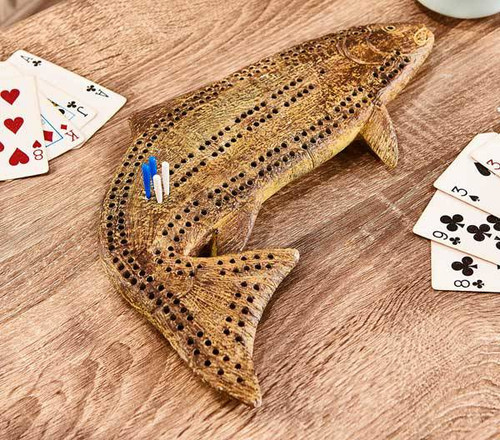Fish Cribbage Board American Expedition