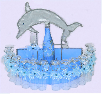 Under the Sea Quinceanera Toasting Set, available in all colors