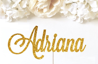 Persoanlized Quinceanera Cake Topper