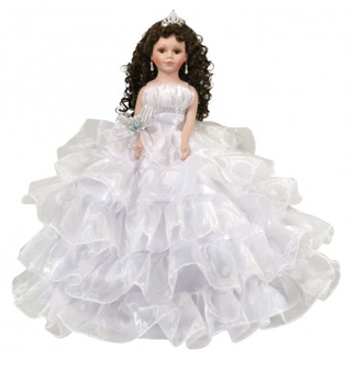 White Quinceanera Doll,  available in any color
