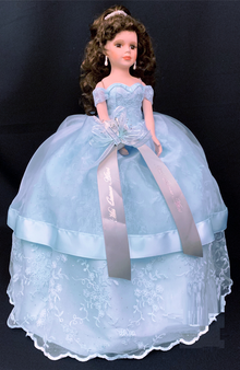 Blue Quinceanera Doll, available in any color