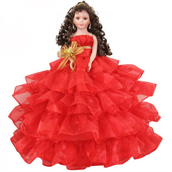 Red ruffles Quinceanera Doll, available in every color