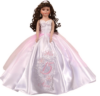 Pink Quinceanera Doll, available in every color