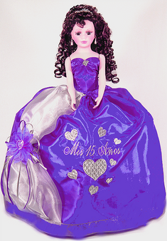 Quinceanera Doll, available in every color
