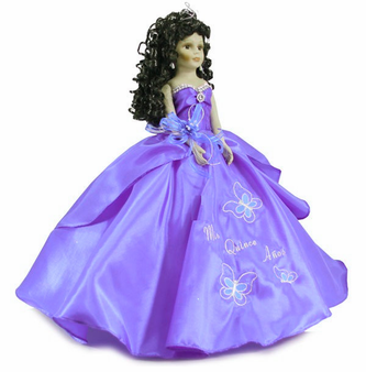 Butterflies Quinceanera Doll, available any color