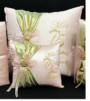 Princess Quinceanera Pillows Set. Two Pillows