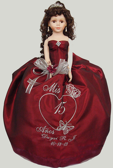 Butterflies Quinceanera Doll,  available in any color