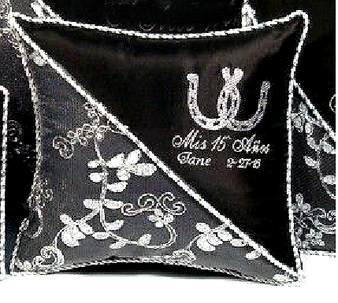 Horseshoes Quinceanera Pillows Set. Two Pillows