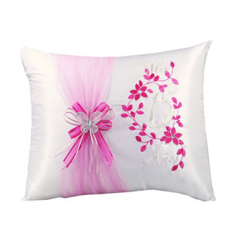 Quinceanera Pillows,  Kneeling and Tiara Pillow Set. Two pillows