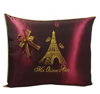 Paris Quinceanera Pillows,  Kneeling and Tiara Pillows Set