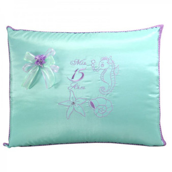 Under the Sea Quinceanera Pillows, Kneeling and Tiara Pillows Set